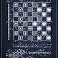 Vintage Checker and Chess Board Drawing from 1921 by Aged Pixel