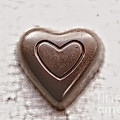 Vintage Chocolate Heart by Leslie Banks