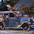 Vintage Christmas Car by Herman Robert
