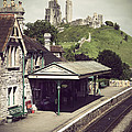Vintage Corfe Castle by Linsey Williams