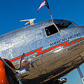 Vintage Dc-3 Airplane by Raul Rodriguez