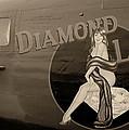 Vintage Diamon Lil B-24 Bomber Aircraft by Amy McDaniel