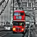 Vintage Double Decker In London by Florian Rodarte