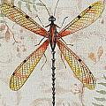 Vintage Dragonfly-jp2563 by Jean Plout