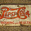 Vintage Drink Pepsi Cola 5 Cents Dsc07157 by Greg Kluempers