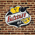 Vintage Falstaff Beer Shield Dsc07192 by Greg Kluempers