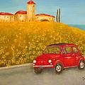 Vintage Fiat 500 by Pamela Allegretto