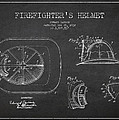 Vintage Firefighter Helmet Patent drawing from 1932 by Aged Pixel