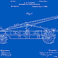 Vintage Firetruck Patent - Blueprint by Finlay McNevin