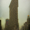 Vintage Flatiron In Winter by Chris Lord
