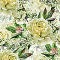 Vintage Floral Seamless Watercolor by Inna Sinano
