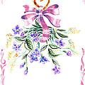 Vintage Flowers From The Heart by Irina Sztukowski
