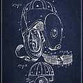 Vintage Football Helment Patent Drawing From 1927 by Aged Pixel