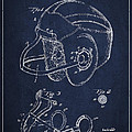 Vintage Football Helment Patent Drawing From 1935 by Aged Pixel