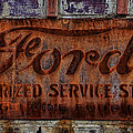 Vintage Ford Authorized Service Sign by Alan Hutchins