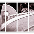 Vintage Ford Hood Ornament - Panel Series 2 Of 3 by Lawrence Burry