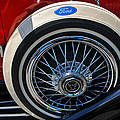 Vintage 1931 Ford Phaeton Spare Tire by Mike Martin