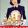 Vintage French Tin Sign Primerose by Olivier Le Queinec