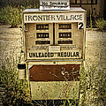 Vintage Gas Pump At An Abandoned Filling Station by Randall Nyhof