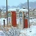 Vintage Gas Pumps by Deborah Moen