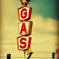 Vintage Gas Sign by Beth Ferris Sale