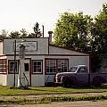 Vintage Gas Station by Roxy Hurtubise