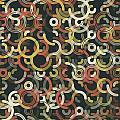 Vintage Geometric Circle Segment Pattern by Frank Ramspott