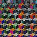 Vintage Geometric Cubes by Phil Perkins