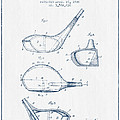 Vintage Golf Club Patent Drawing From 1926 - Blue Ink by Aged Pixel