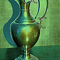 Vintage Green Pewter Pitcher by Nina Silver