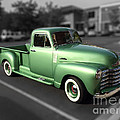 Vintage Green Chevy 3100 Truck by Dale Powell