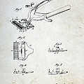 Vintage Hair Clippers Patent by Paul Ward
