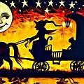 Vintage Halloween Scene by Florian Rodarte