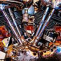 Vintage Harley Knucklehead by Jim Pruett
