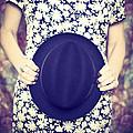 Vintage Hat Flower Dress Woman by Edward Fielding