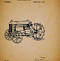 Vintage Henry Ford Tractor Patent by Mountain Dreams