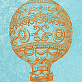 Vintage Hot Air Balloon by World Art Prints And Designs