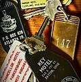 Vintage Hotel Keys by Paul Ward