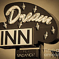 Vintage Hotel - Motel Sign by Gary Whitton