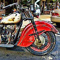 Vintage Indian Motorcycle - Live To Ride by Paul Ward