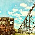 Vintage Industrial Postcard by Olivier Le Queinec