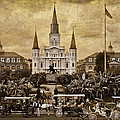 Vintage Jackson Square by Diana Powell