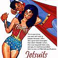 Vintage Jetsuit Advertisement by David Caldevilla