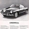 Vintage Karmann Ghia Advert by Georgia Fowler