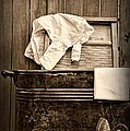 Vintage Laundry Room In Sepia by Paul Ward