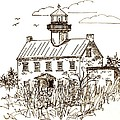 Vintage Lines Of East Point Lighthouse by Nancy Patterson