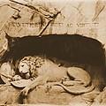 Vintage Lion Of Lucerne by Dan Sproul