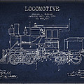 Vintage Locomotive Patent From 1892 by Aged Pixel