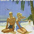 Vintage Los Angeles Travel Poster by Joy McKenzie