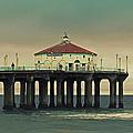 Vintage Manhattan Beach Pier by Kim Hojnacki